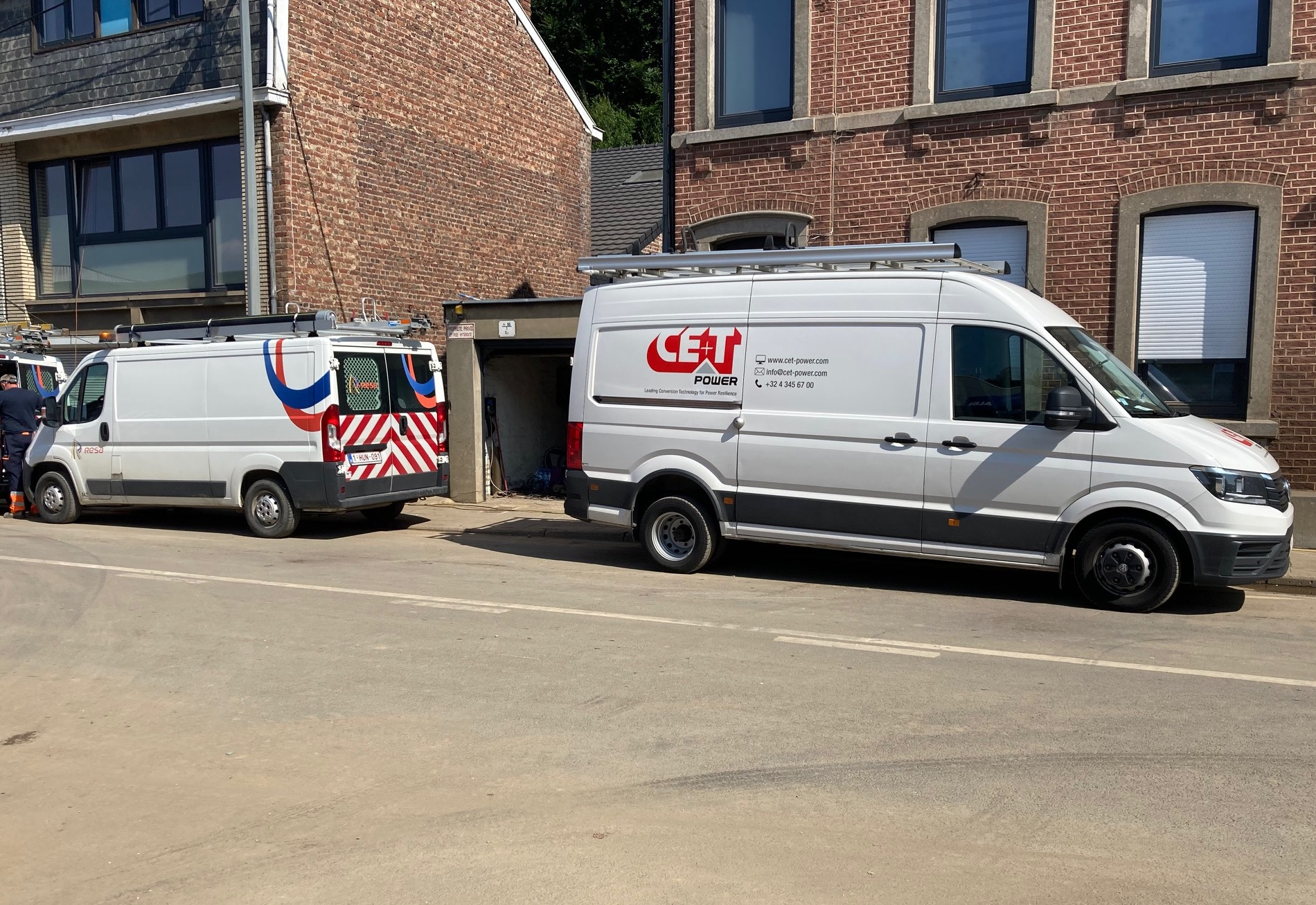 CE+T Services on site after the floodings in Belgium
